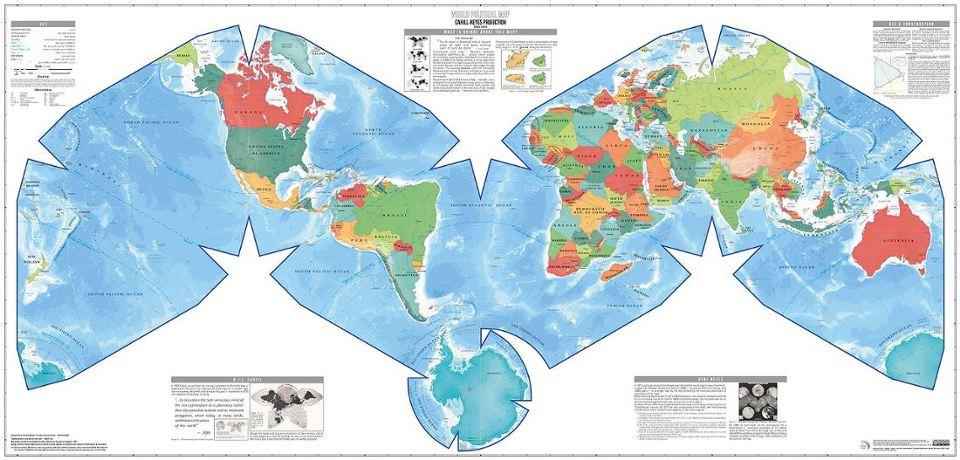 Cahill-Keyes, Duncan Webb wall map