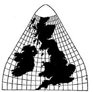 UK enlarged to size of continent.