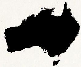 Australia, equal-area distortion
