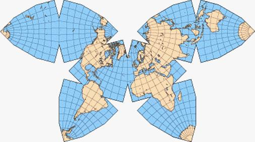 Cahill Octahedral World Map Gallery