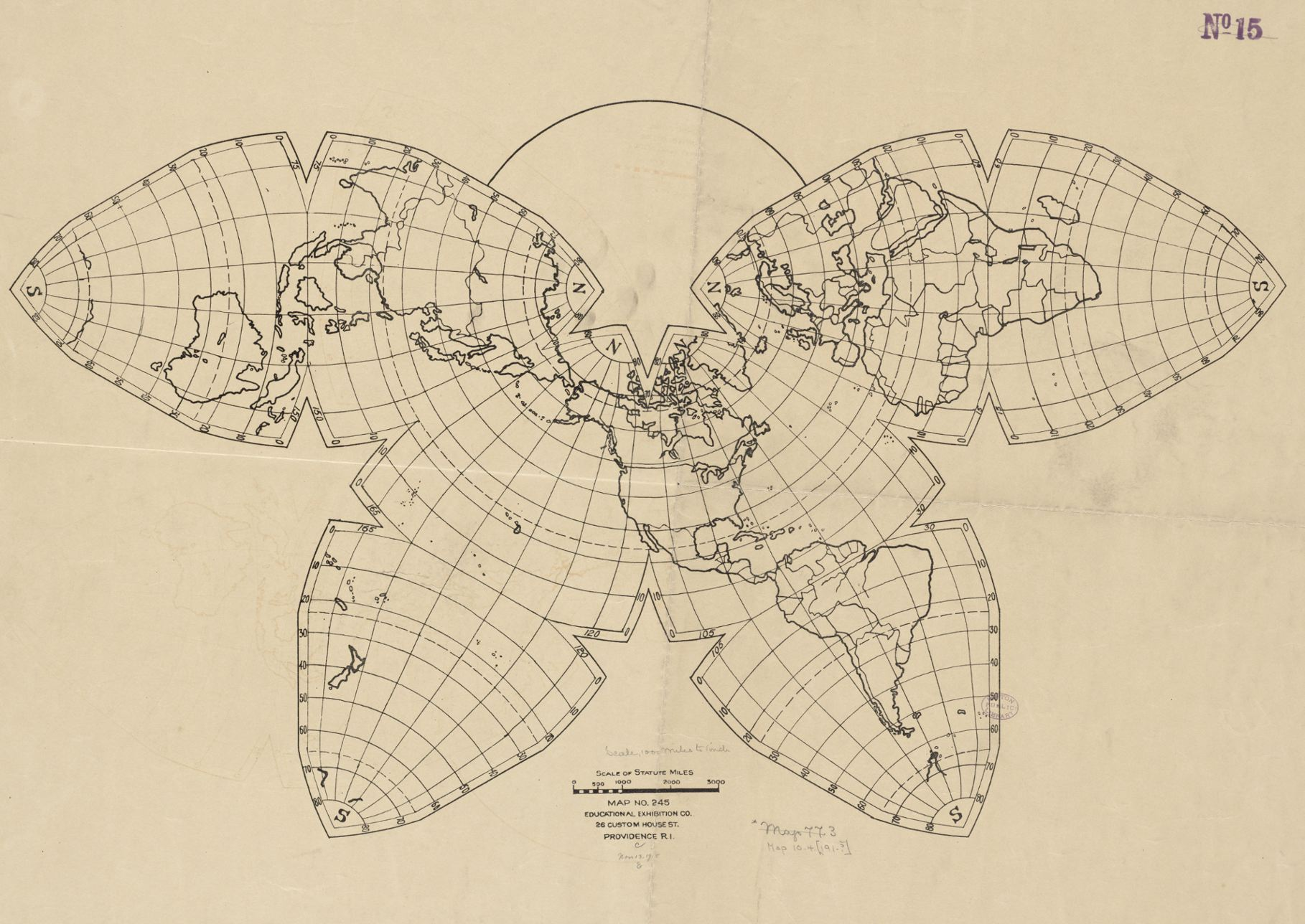 1918 Cahill map