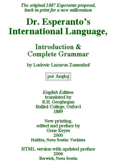 Dr. Esperanto cover