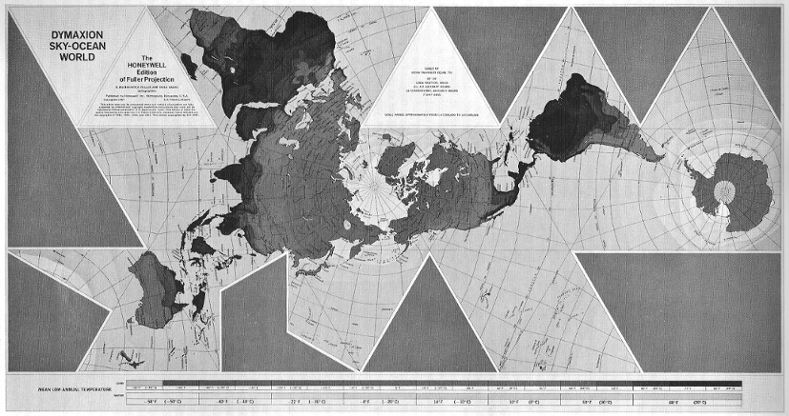 6 critique of fullers dymaxion map compared to bjs cahills dymaxion map honeywell version bw gumiabroncs Images