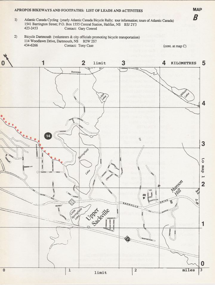 Metro-Ped Bikeway Map, Halifax area, Nova Scotia