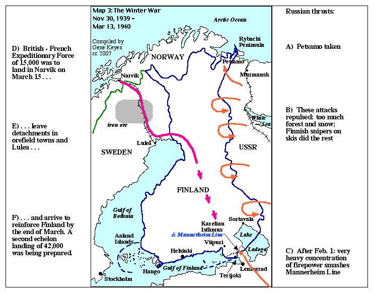 Stalins finland fiasco nonviolent defense clues map 3 winter war nov 30 1939 mar 13 1940 gumiabroncs Choice Image