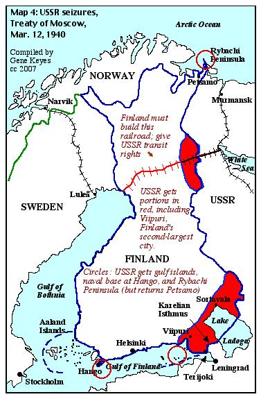 Stalins finland fiasco nonviolent defense clues map 4 ussr seizures from finland 1940 gumiabroncs Choice Image