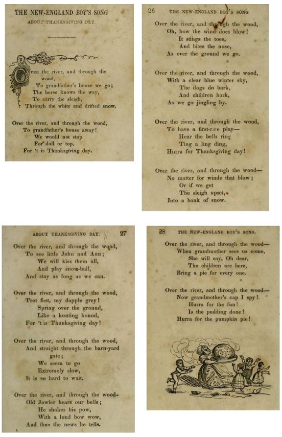 Original book publication of L.M.Child poem