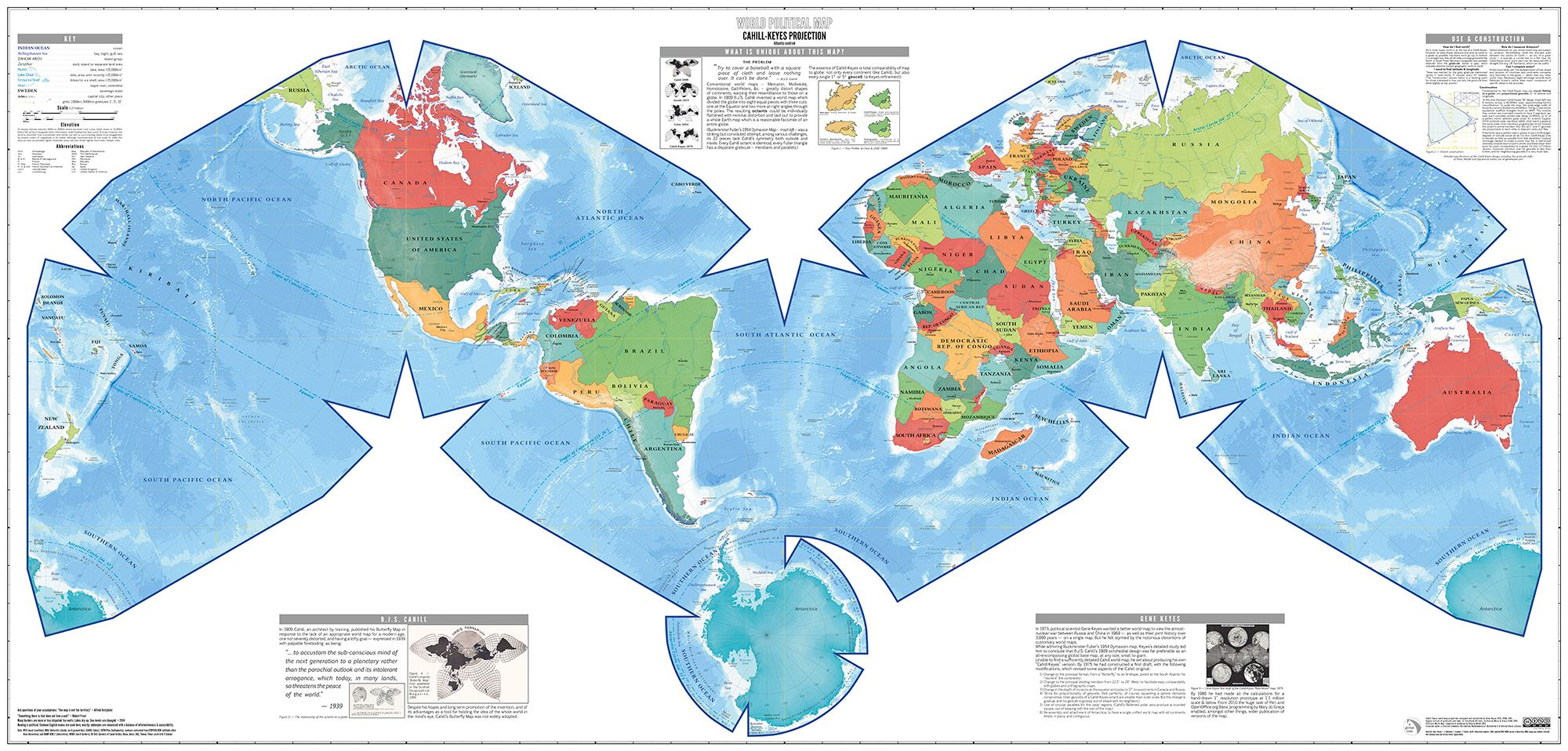 Cahill-Keyes World Map Poster